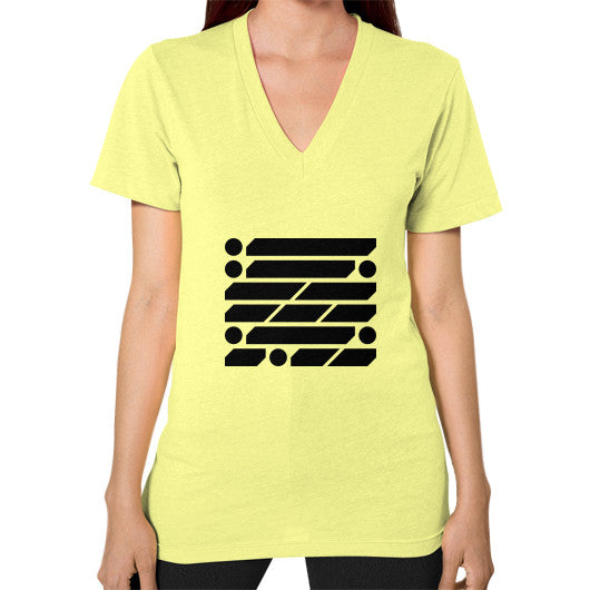 M_O_R_S_E Dark Variant V-Neck (on woman) Shirt Lemon Zacaca Shop USA