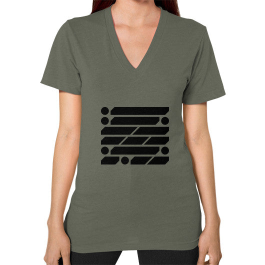 M_O_R_S_E Dark Variant V-Neck (on woman) Shirt Lieutenant Zacaca Shop USA