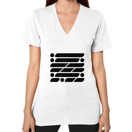 M_O_R_S_E Dark Variant V-Neck (on woman) Shirt White Zacaca Shop USA