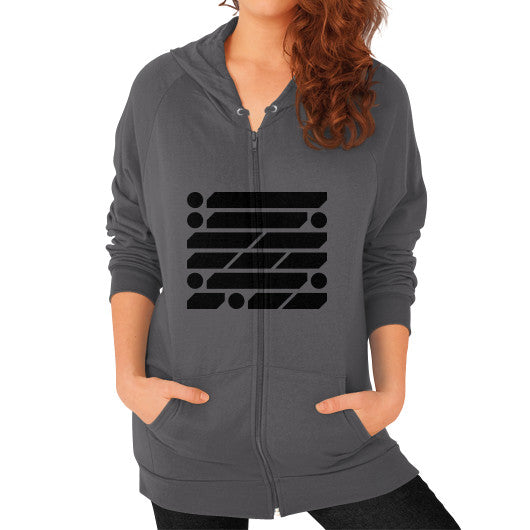 M_O_R_S_E Dark Variant Zip Hoodie (on woman) Shirt Asphalt Zacaca Shop USA