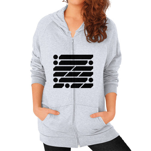 M_O_R_S_E Dark Variant Zip Hoodie (on woman) Shirt Heather grey Zacaca Shop USA