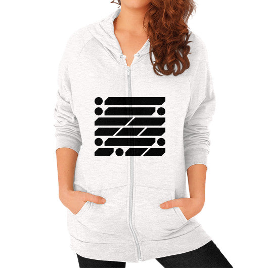 M_O_R_S_E Dark Variant Zip Hoodie (on woman) Shirt Tri-Blend Oatmeal Zacaca Shop USA