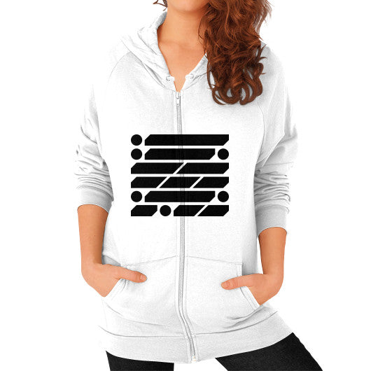 M_O_R_S_E Dark Variant Zip Hoodie (on woman) Shirt White Zacaca Shop USA