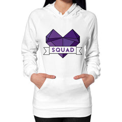 'Squad' Heart Tees  Hoodie (on woman)