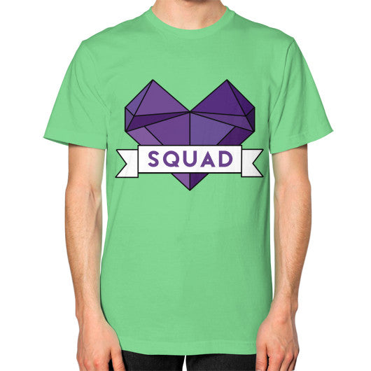 'Squad' Heart Tees  Unisex T-Shirt (on man) Grass Zacaca Shop USA