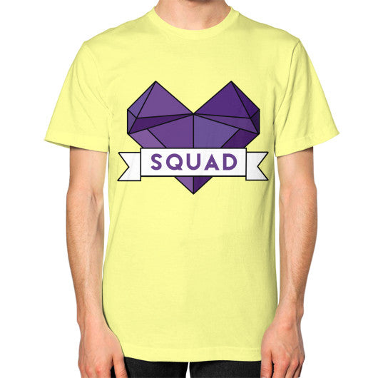'Squad' Heart Tees  Unisex T-Shirt (on man) Lemon Zacaca Shop USA