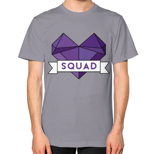 'Squad' Heart Tees  Unisex T-Shirt (on man) Slate Zacaca Shop USA
