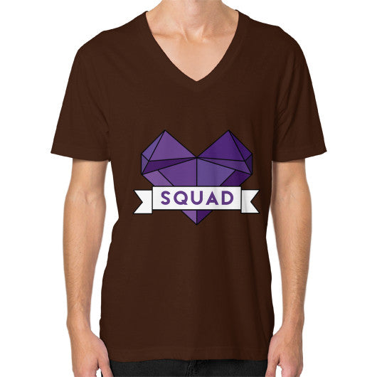 'Squad' Heart Tees  V-Neck (on man) Brown Zacaca Shop USA