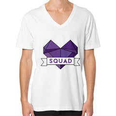 'Squad' Heart Tees  V-Neck (on man)
