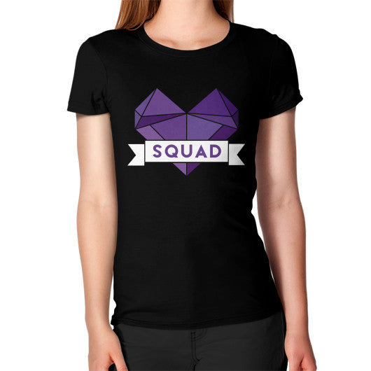 'Squad' Heart Tees  Women's T-Shirt Black Zacaca Shop USA