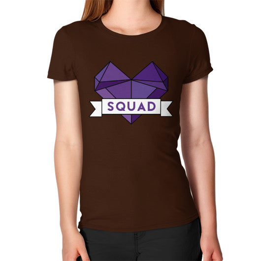 'Squad' Heart Tees  Women's T-Shirt Brown Zacaca Shop USA