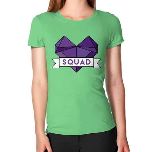 'Squad' Heart Tees  Women's T-Shirt Grass Zacaca Shop USA