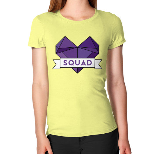 'Squad' Heart Tees  Women's T-Shirt Lemon Zacaca Shop USA