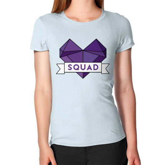 'Squad' Heart Tees  Women's T-Shirt Light blue Zacaca Shop USA