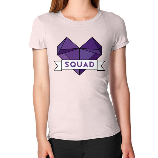 'Squad' Heart Tees  Women's T-Shirt Light pink Zacaca Shop USA