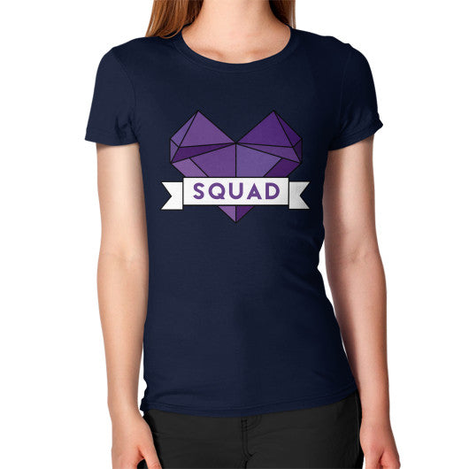 'Squad' Heart Tees  Women's T-Shirt Navy Zacaca Shop USA