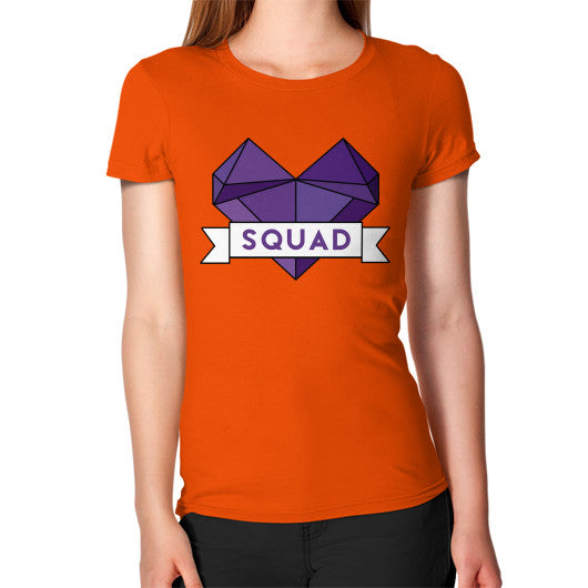 'Squad' Heart Tees  Women's T-Shirt Orange Zacaca Shop USA