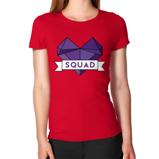 'Squad' Heart Tees  Women's T-Shirt Red Zacaca Shop USA