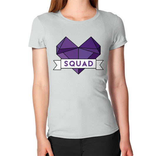 'Squad' Heart Tees  Women's T-Shirt Silver Zacaca Shop USA