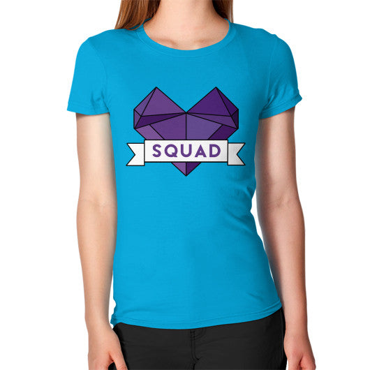 'Squad' Heart Tees  Women's T-Shirt Teal Zacaca Shop USA