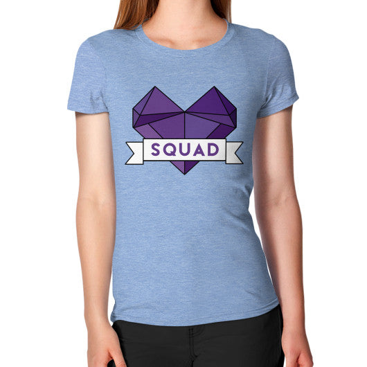 'Squad' Heart Tees  Women's T-Shirt Tri-Blend Blue Zacaca Shop USA