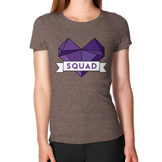 'Squad' Heart Tees  Women's T-Shirt Tri-Blend Coffee Zacaca Shop USA