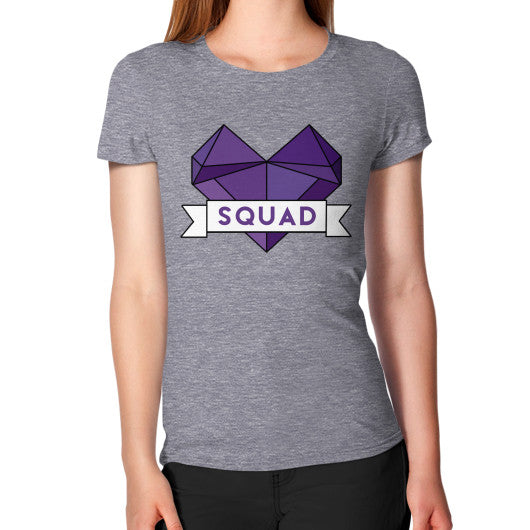 'Squad' Heart Tees  Women's T-Shirt Tri-Blend Grey Zacaca Shop USA