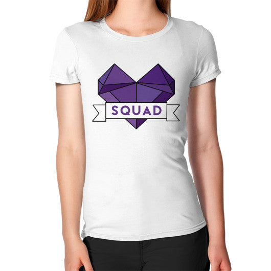 'Squad' Heart Tees  Women's T-Shirt White Zacaca Shop USA