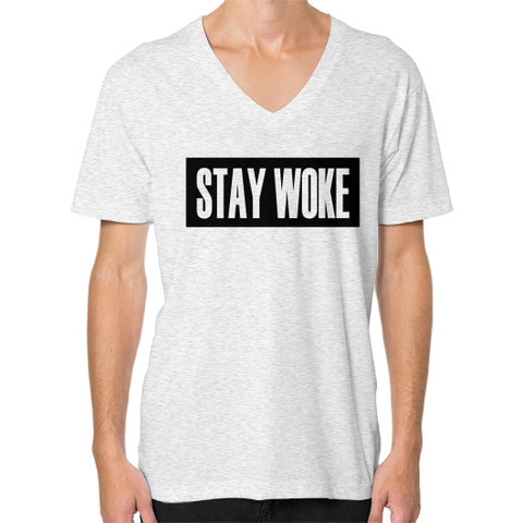 Stay Woke V-Neck (on man) - Zacaca Shop USA - 2