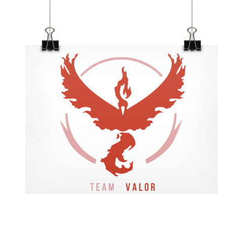 Team Valor Horizontal Fine Art Prints (Posters) - Zacaca Shop USA - 1