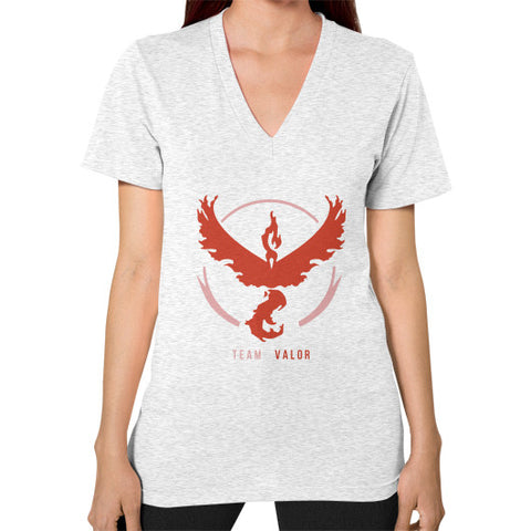 Team Valor V-Neck (on woman) Shirt - Zacaca Shop USA - 2