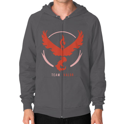 Team Valor Zip Hoodie (on man) Shirt - Zacaca Shop USA - 2