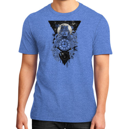 'THE PASSAGE' District T-Shirt (on man) Heather blue Zacaca Shop USA