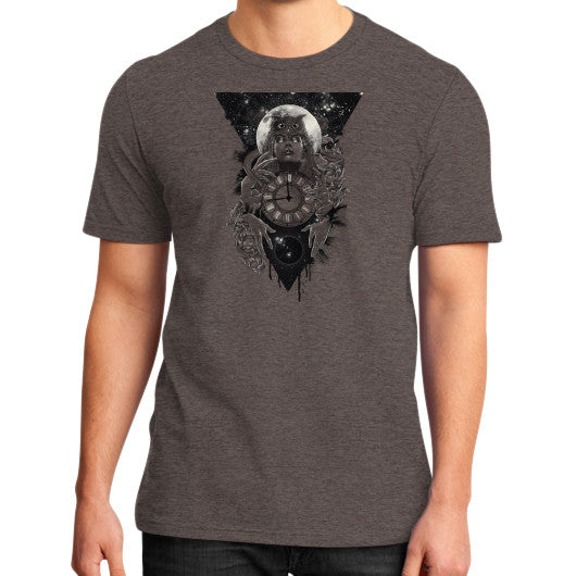 'THE PASSAGE' District T-Shirt (on man) Heather brown Zacaca Shop USA