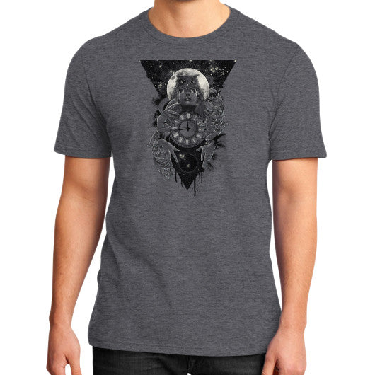 'THE PASSAGE' District T-Shirt (on man) Heather charcoal Zacaca Shop USA