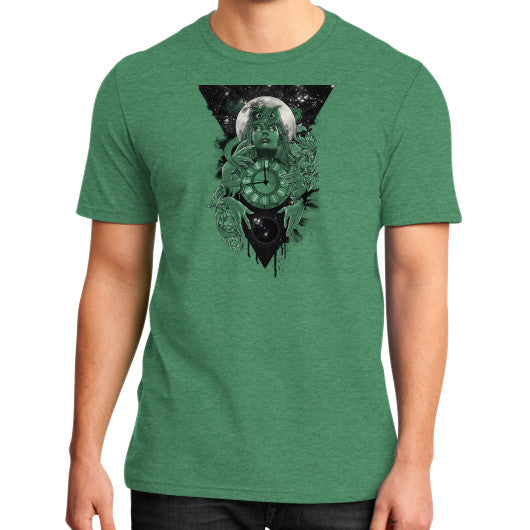 'THE PASSAGE' District T-Shirt (on man) Heather green Zacaca Shop USA
