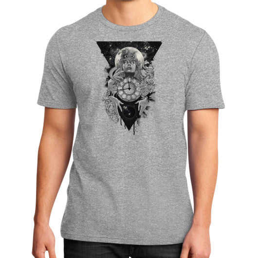 'THE PASSAGE' District T-Shirt (on man) Heather grey Zacaca Shop USA