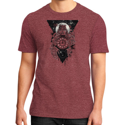 'THE PASSAGE' District T-Shirt (on man) Heather red Zacaca Shop USA