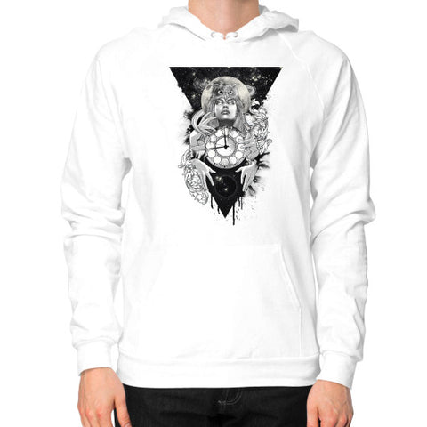 'THE PASSAGE' Hoodie (on man) White Zacaca Shop USA