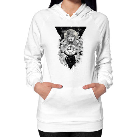 'THE PASSAGE' Hoodie (on woman) White Zacaca Shop USA