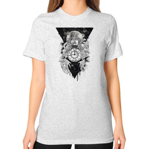 'THE PASSAGE' Unisex T-Shirt (on woman) Ash grey Zacaca Shop USA