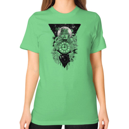 'THE PASSAGE' Unisex T-Shirt (on woman) Grass Zacaca Shop USA