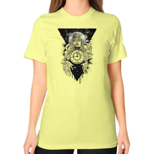 'THE PASSAGE' Unisex T-Shirt (on woman) Lemon Zacaca Shop USA