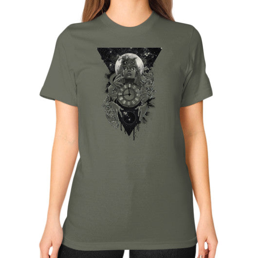 'THE PASSAGE' Unisex T-Shirt (on woman) Lieutenant Zacaca Shop USA