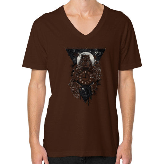'THE PASSAGE' V-Neck (on man) Brown Zacaca Shop USA