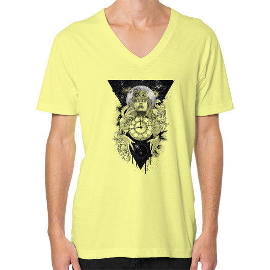 'THE PASSAGE' V-Neck (on man) Lemon Zacaca Shop USA