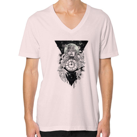 'THE PASSAGE' V-Neck (on man) Light pink Zacaca Shop USA