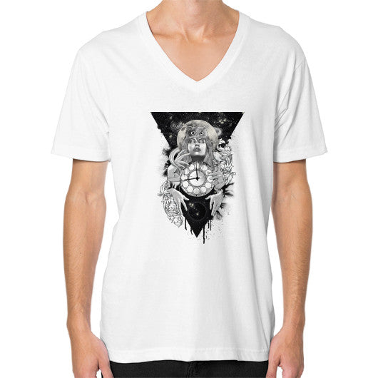 'THE PASSAGE' V-Neck (on man) White Zacaca Shop USA