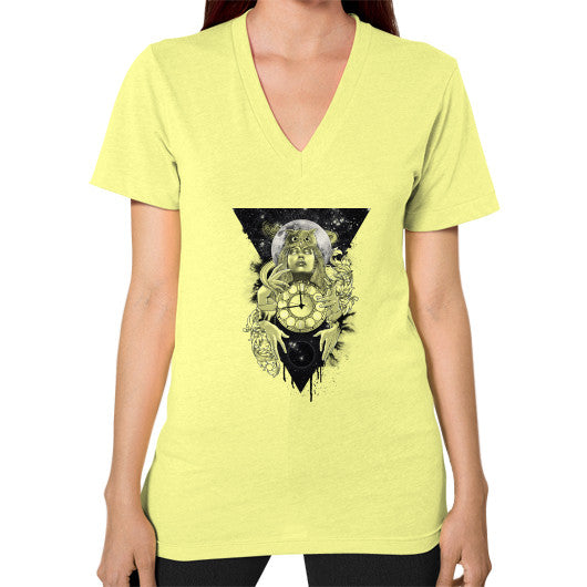 'THE PASSAGE' V-Neck (on woman) Lemon Zacaca Shop USA