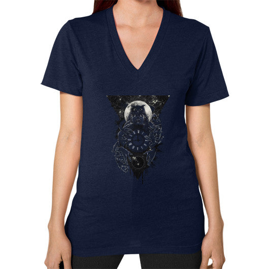 'THE PASSAGE' V-Neck (on woman) Navy Zacaca Shop USA